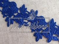 """Ажур """" Роза """"  4.5  см , синяя"""