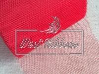 Вуаль -сетка , красная