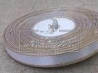Люрекс 0.9 см , белый с золотом