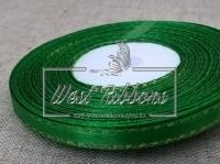 Люрекс 0.6 см , зелёный с золотом