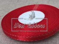 Люрекс 0.6 см , красный  с серебром