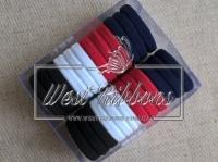 Набор резинок - бело-красные  № 26