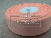 Репс  2.5 см , персиковый РУЛОН