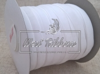 Лента велюр -мягкая 0.8 см, белая (мини)