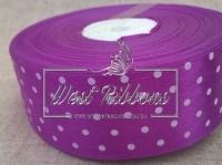 Атлас в Горох 4 см, темно-фиолетовый