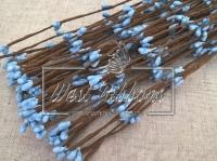 Веточка с тычинками 40 см , голубая-10 шт.