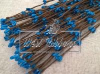 Веточка с тычинками 40 см , синяя-10 шт.