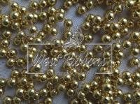 Жемчуг на нитке 8 мм New Year, золото