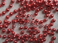 Жемчуг на нитке 8 мм New Year, красный