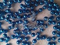 Жемчуг на нитке 8 мм New Year, синий
