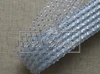 Регилин 4.5 см, ГАФРОВАНЫЙ серебристий