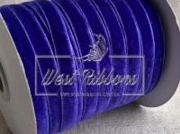 Лента велюр -мягкая 1 см, темно-фиолетовая