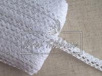 """Кружево """"Вязаное""""  1.5 см , белое (дорожка) NEW"""