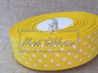 Репс в Горох 2 .5 см, желтый 015