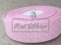Репс в Горох 2 .5 см, бледно-розовый 138