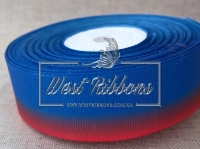 Репс Градиент 2.5 см, сине-красный