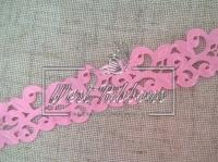 Ажур-дорожка 2 см, розовая МОТОК