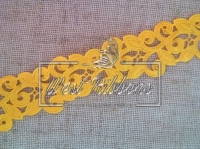 Ажур-дорожка 2 см, темно-желтая  МОТОК