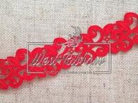 Ажур-дорожка 2 см, красная МОТОК