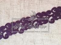 Ажур-дорожка 2 см , чернильно -фиолетовая