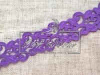 Ажур-дорожка 2 см, темно-фиолетовая МОТОК