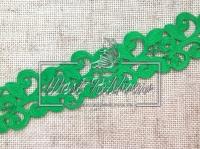 Ажур-дорожка 2 см, зеленая