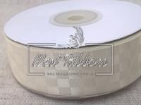 Атлас в шахмат 2.5 см, молочный