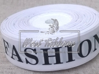 Репс 2.5 см надпись FASHION ,на белом