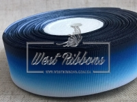 Репс Градиент 2.5 см, бело-сине-чернильный