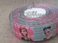 Репс 2.5 см Frozen на мятно-розовом № 6