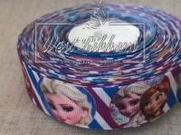 Репс 2.5 см Frozen в кругах+фиолетово-синяя полоска № 11