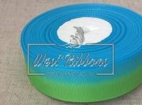 Репс Градиент 2.5 см, зелёно-синий