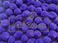 Помпоны 2 см, темно-фиолетовые