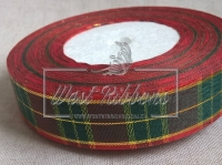 Шотландка New Year  2.5 см, зелёный квадрат