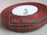 Шотландка New Year 1.8 см, синяя полоса