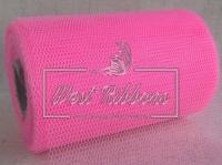 Вуаль -сетка , ярко-розовая