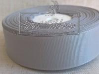 Репс  2.5 см , серебро РУЛОН