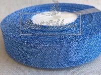Парча 4 см, ср- синяя РУЛОН