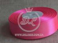 Атлас 1.2 см насыщенно ярко-розовый 89