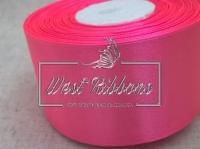 Атлас 5 см ярко-розовая 005  -РУЛОН