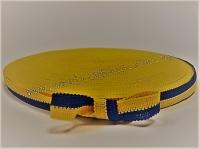 Лента тканевая 2 см UA, желто-темно-синяя