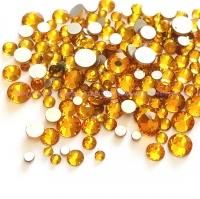 Стразы 5 мм золото -100 шт