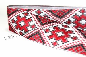 УРК орнамент 2.8 см красный на белом